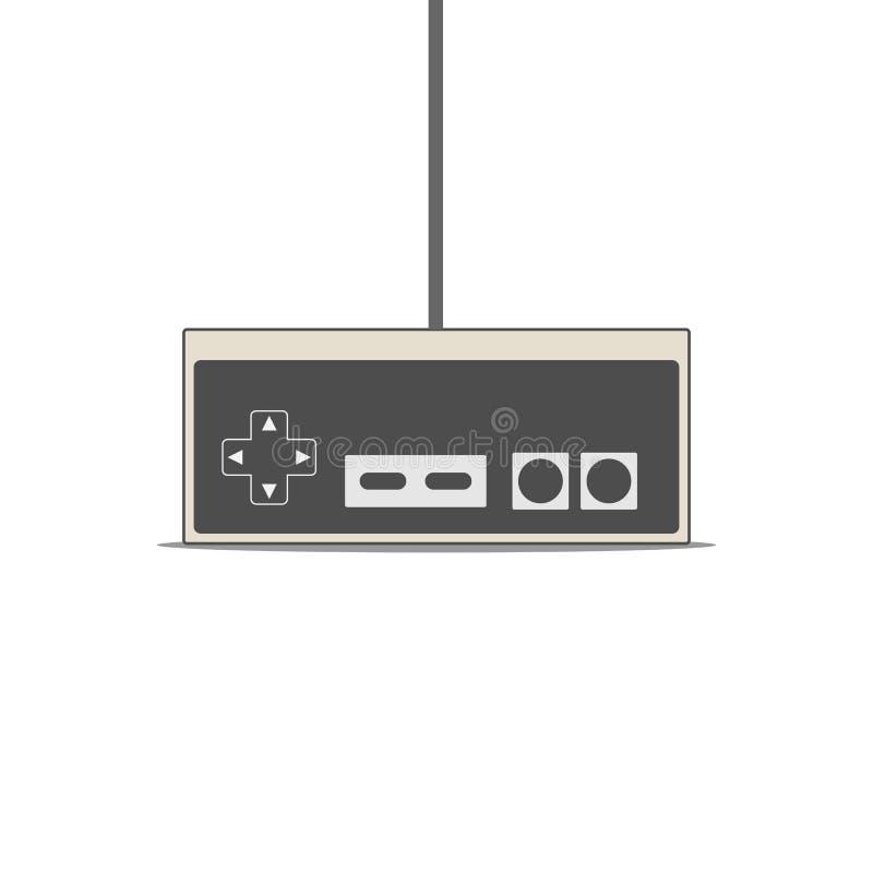 Gamepad vector flat Illustration. Vintage Video Game Controller. Gamepad vector flat Illustration vector illustration