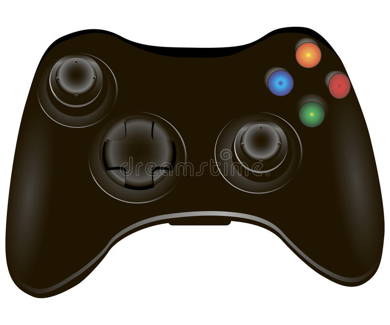 Gamepad. Video game controller, joystick for video games. Vector illustration royalty free illustration