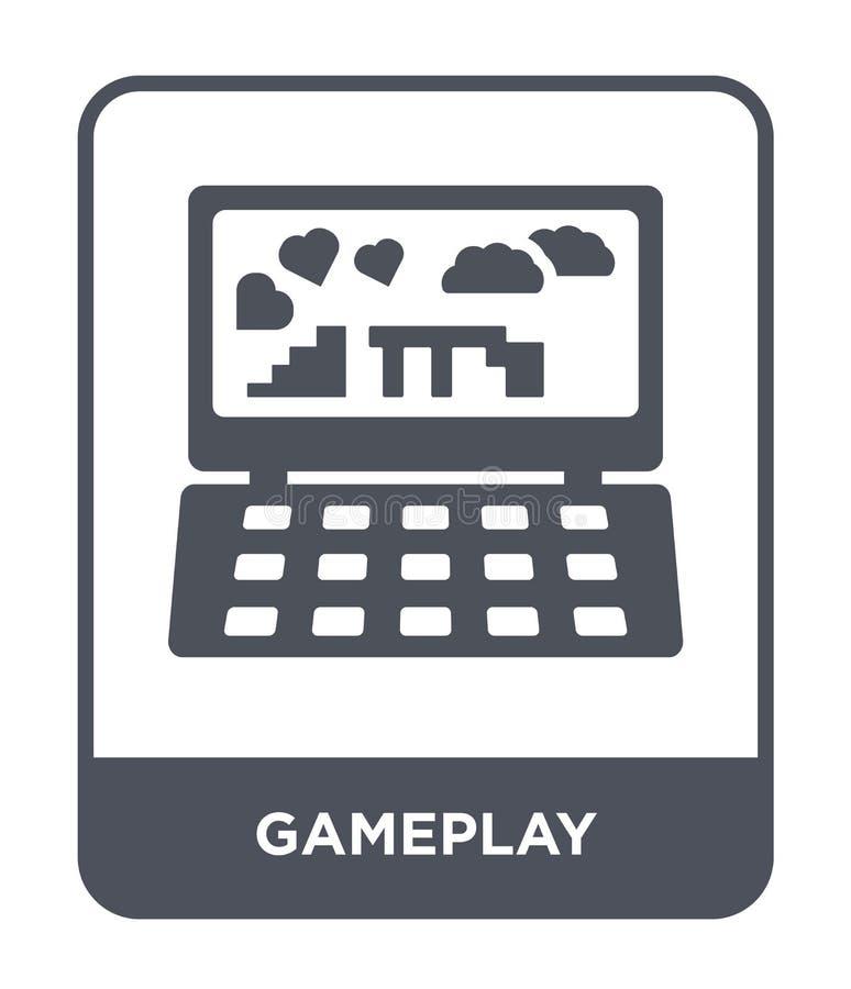 gameplay значок в ультрамодном стиле дизайна gameplay значок изолированный на белой предпосылке квартира gameplay значка вектора  иллюстрация штока