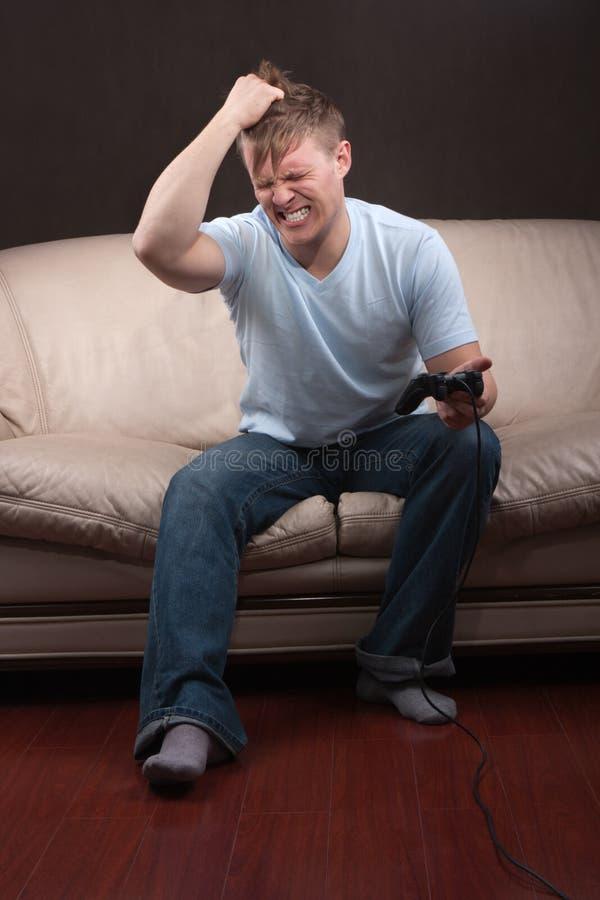 gamer λυπημένος στοκ εικόνες