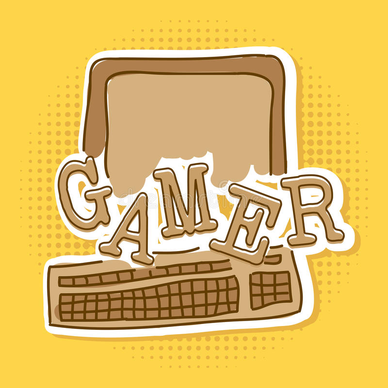 Gamer royalty free illustration