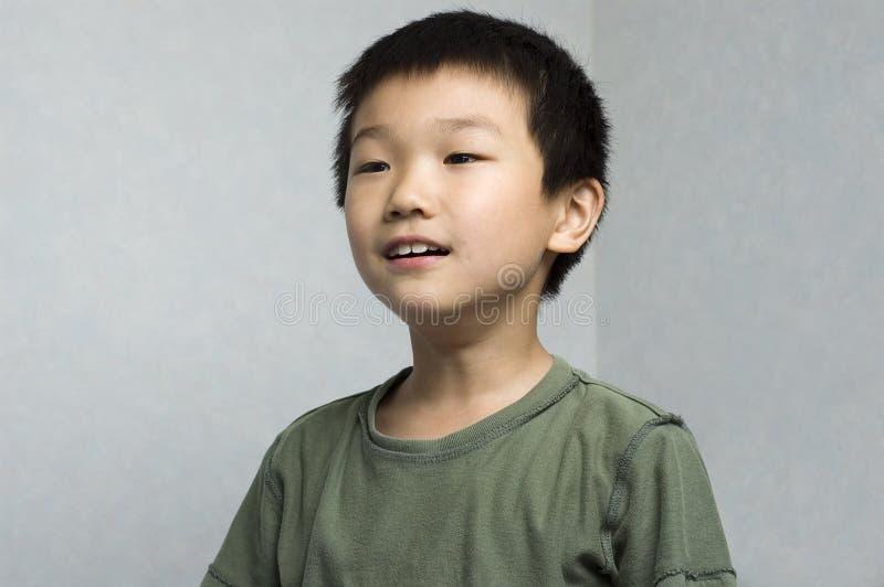Gamer asiático do menino imagem de stock