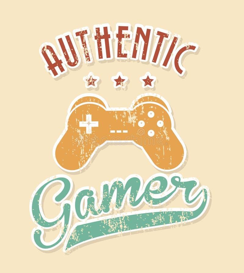 Gamer autentico illustrazione vettoriale