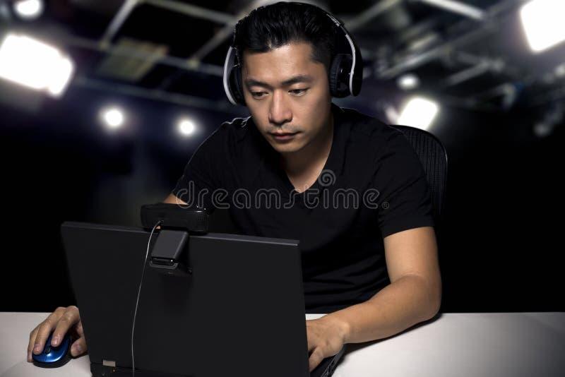 Gamer competitivo profissional de ESports fotos de stock royalty free
