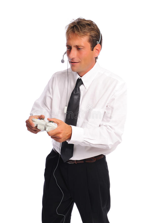Gamer d'affaires image stock