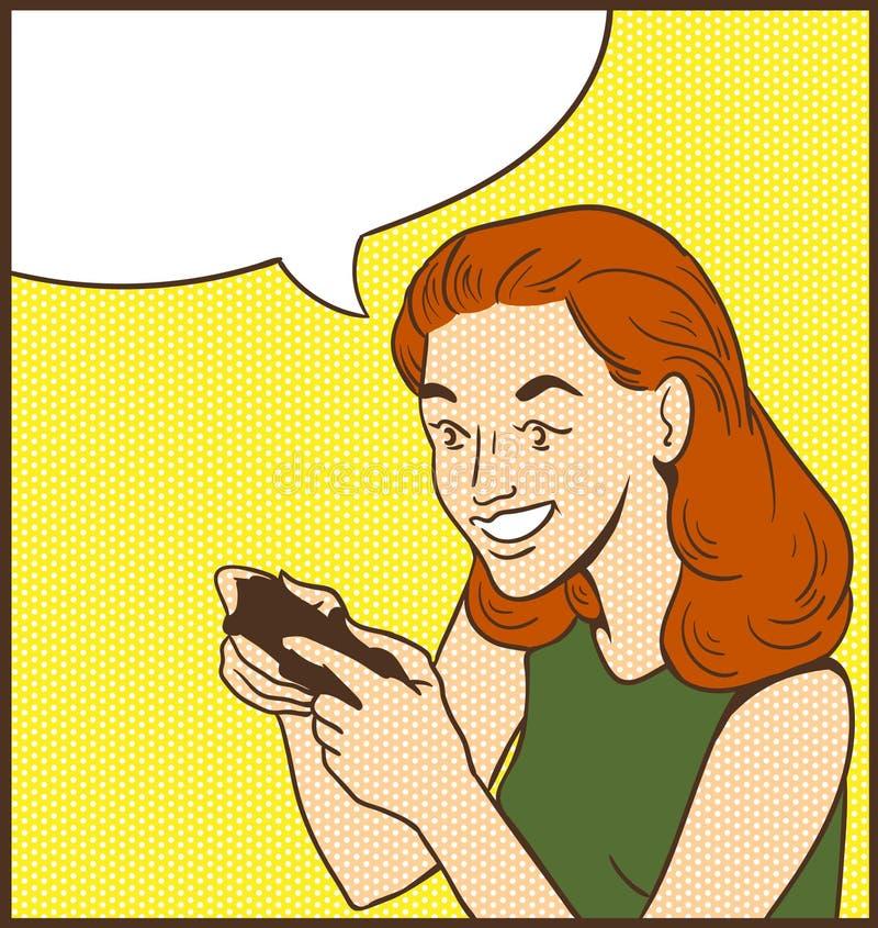 Gamer da pessoa ilustração royalty free