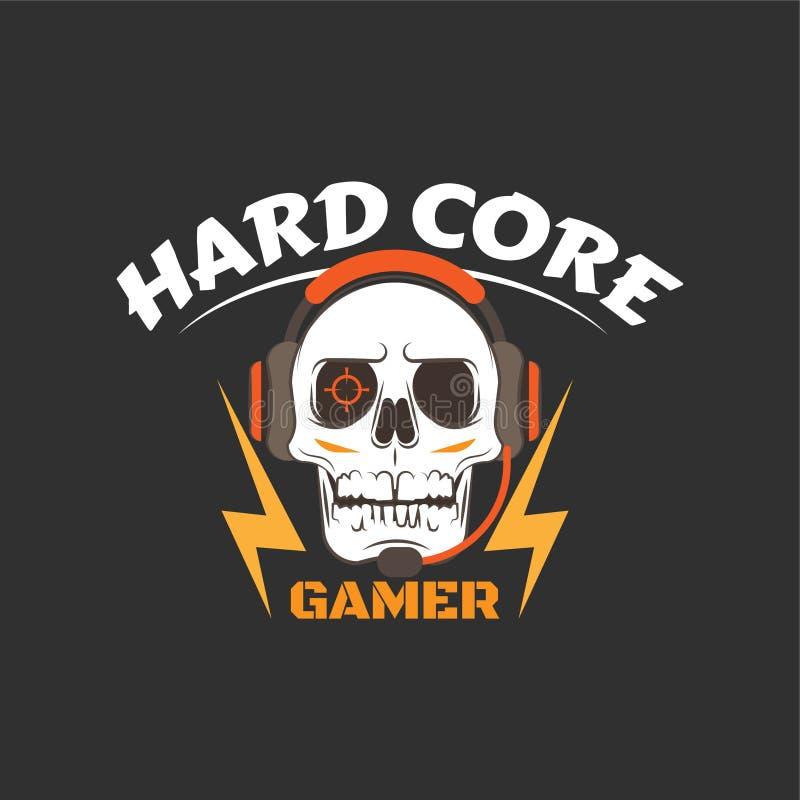 Gamer del nucleo duro illustrazione di stock
