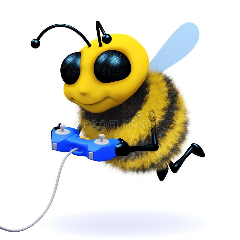 gamer dell'ape 3d royalty illustrazione gratis