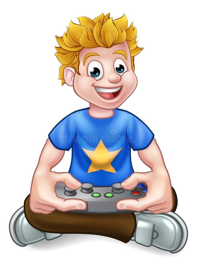 Gamer do jogo de vídeo ilustração stock