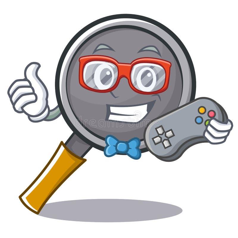 Gamer frying pan cartoon character. Vector illustration vector illustration