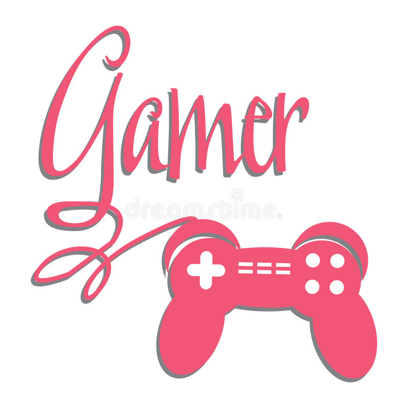 Gamer stock illustration