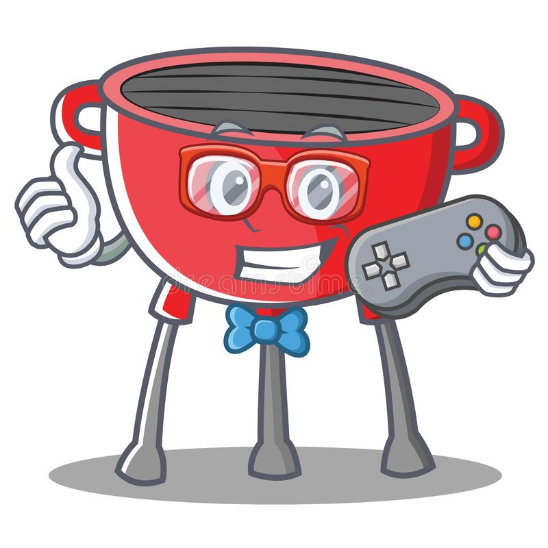 Gamer grilla grilla postać z kreskówki ilustracji