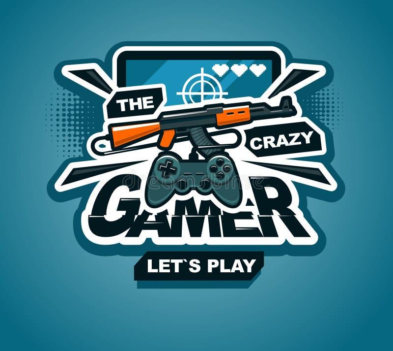 Download gamer logo cool print or sticker illustration creative design stock illustration illustration of computer