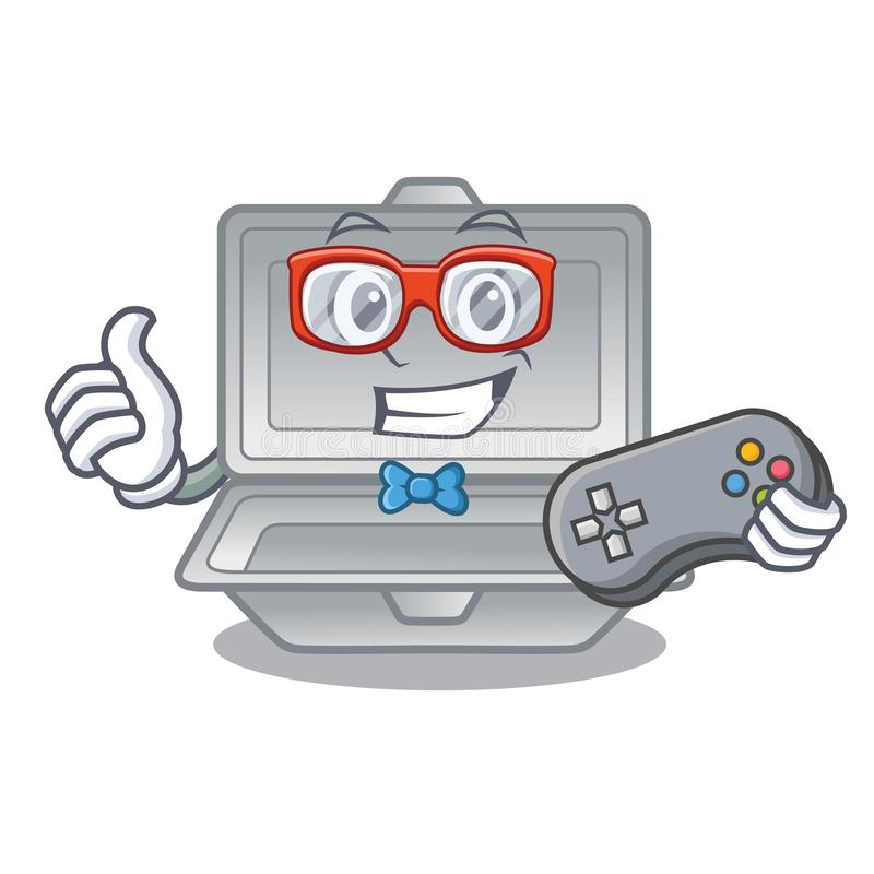 Gamer open styrofoam in the character box. Vector illustration vector illustration