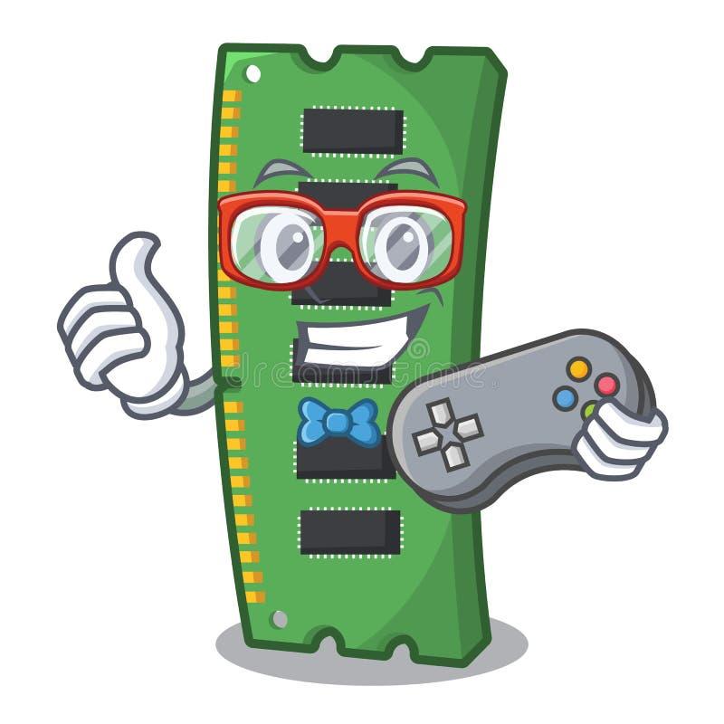 Gamer RAM karta pamięci w peceta charakterze ilustracja wektor