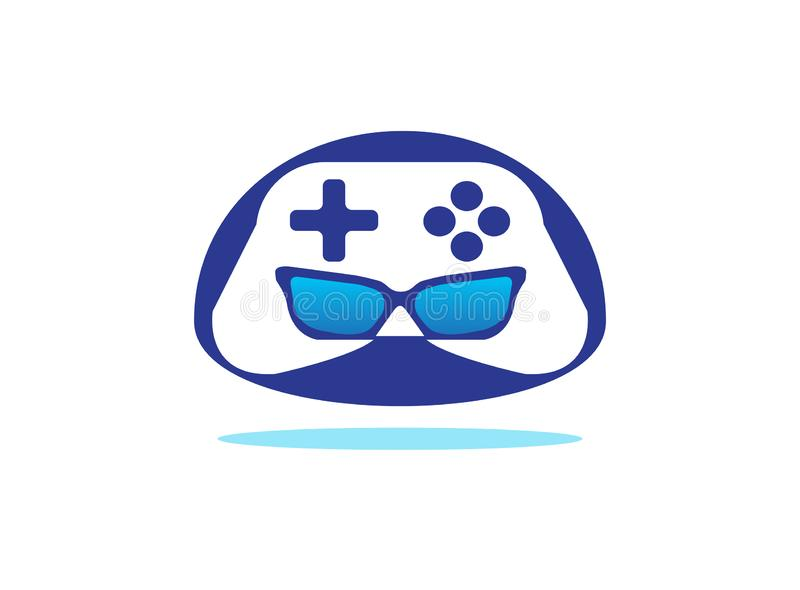 Gamer robot head console symbol vector logo design illustration on white background stock image