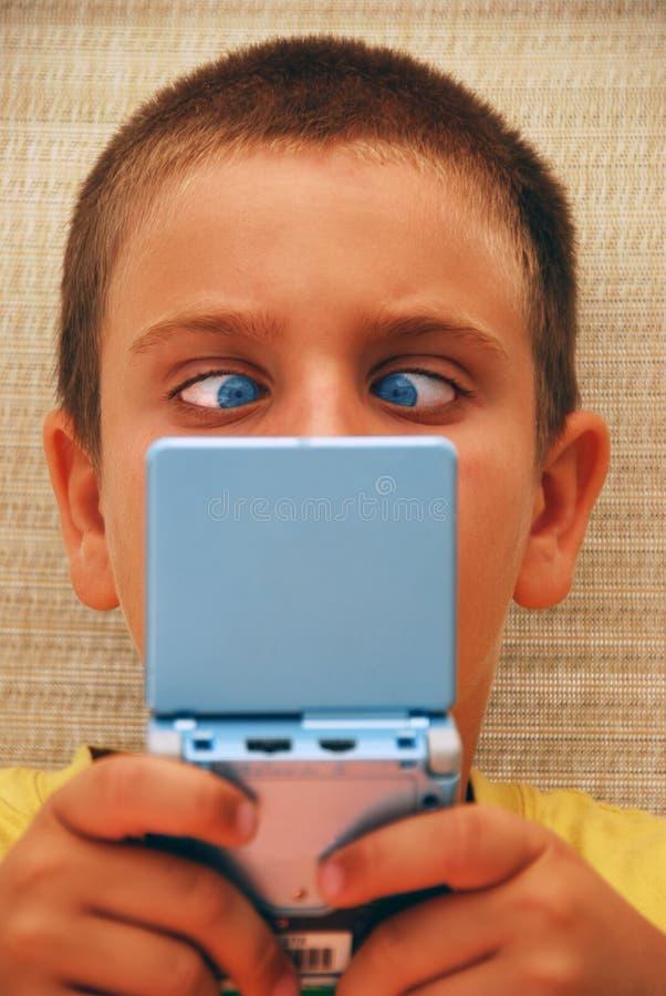 Gamer visuel photographie stock libre de droits