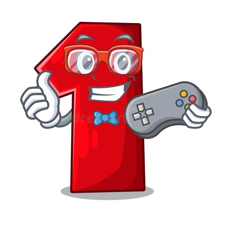 Gamerbeeldverhaal het aantal voor kampioen stock illustratie