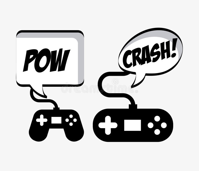 Gamers visuels illustration libre de droits