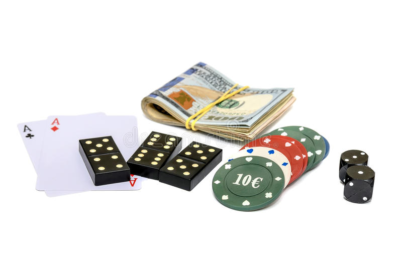 Games of chance stock photos