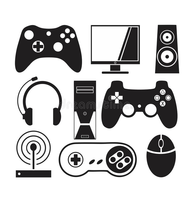 Calendar Illustration Xbox One : Games and console vector stock illustration of