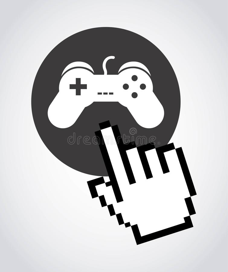 Games design stock illustration