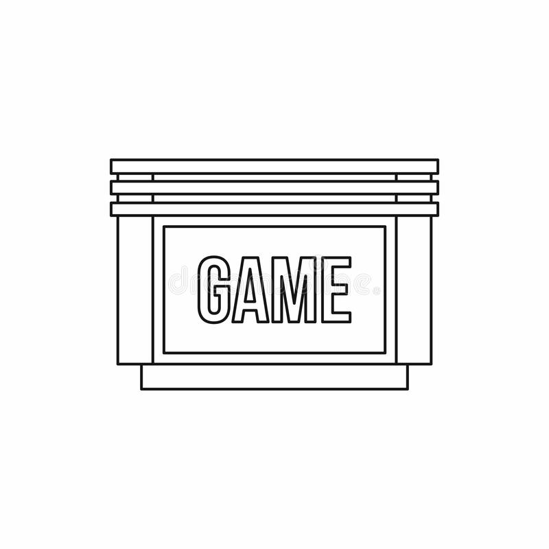 Games floppy disk icon, outline style. Games floppy disk icon in outline style isolated on white background royalty free illustration