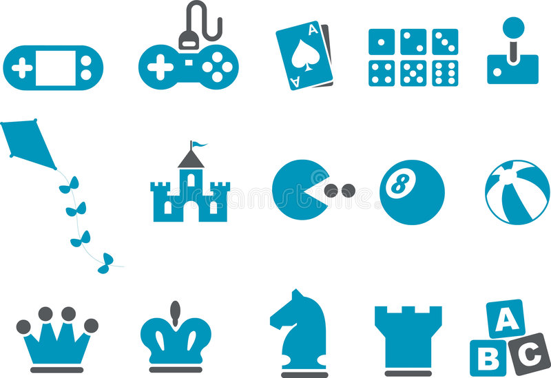Download Games Icon Set editorial stock photo. Image of illustration - 8692338