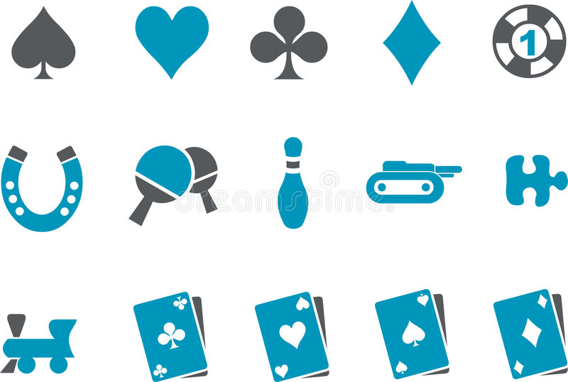Download Games Icon Set stock vector. Image of tank, card, leisure - 8692416