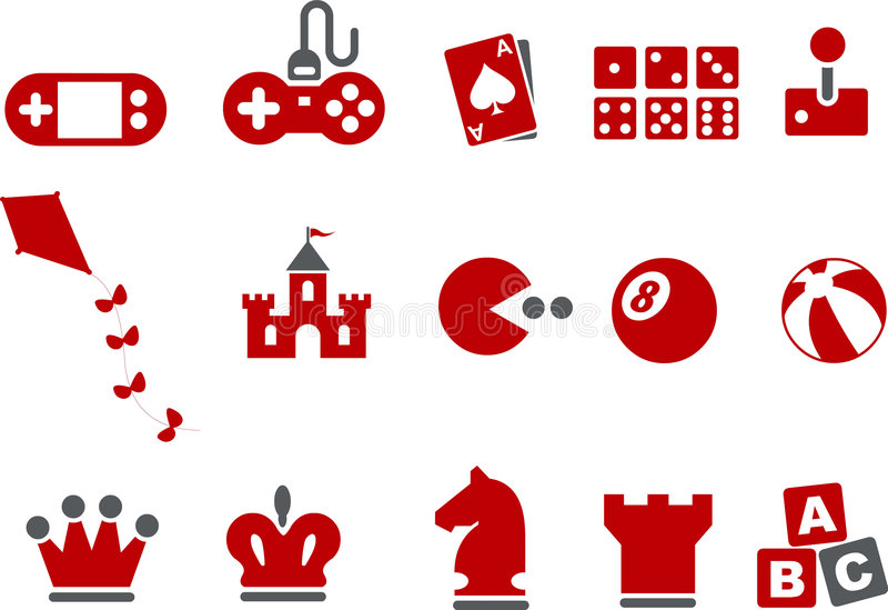 Download Games Icon Set editorial photography. Image of console - 8984502