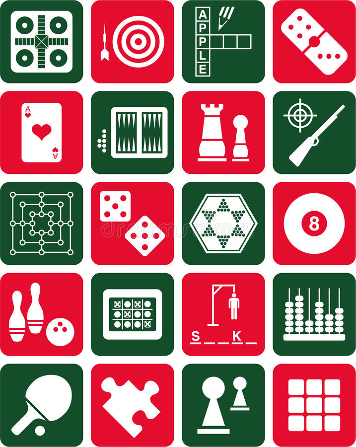 Download Games icons stock vector. Image of dice, icons, bowling - 28568930