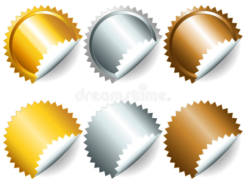 Games Medals Or Labels-set2 Stock Images