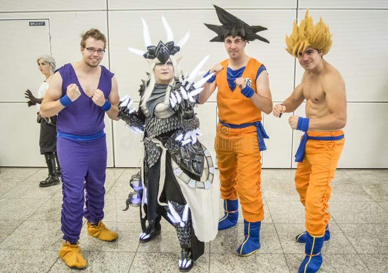 Gamescom 2017: cosplayers zdjęcia royalty free