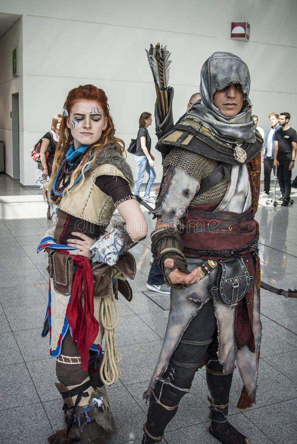Gamescom 2017: cosplayers. Cologne, Germany, August 22th 2017: cosplayers at Gamescom 2017 stock photos