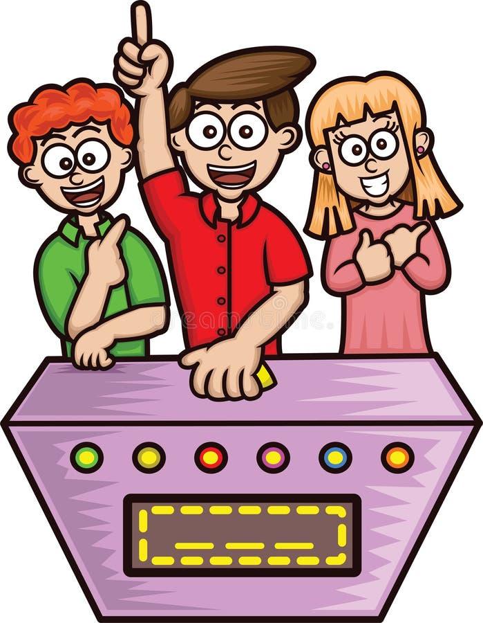 Gameshow-Kandidat-Karikatur vektor abbildung