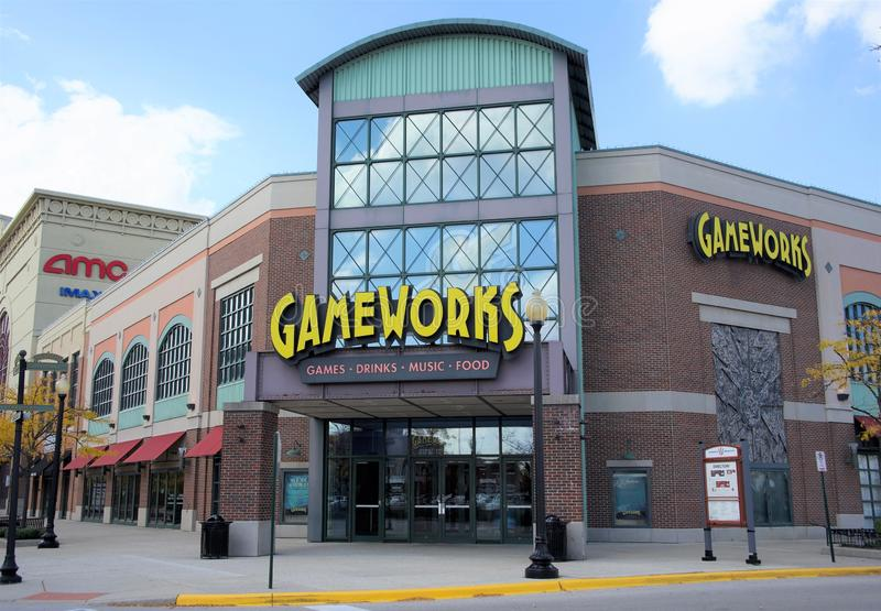 Gameworks, Schaumburg, l'Illinois photographie stock libre de droits