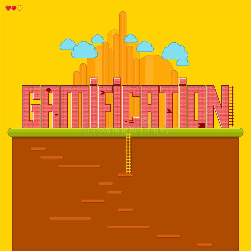 Gamification иллюстрация штока