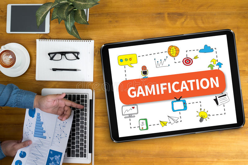 Gamification immagine stock