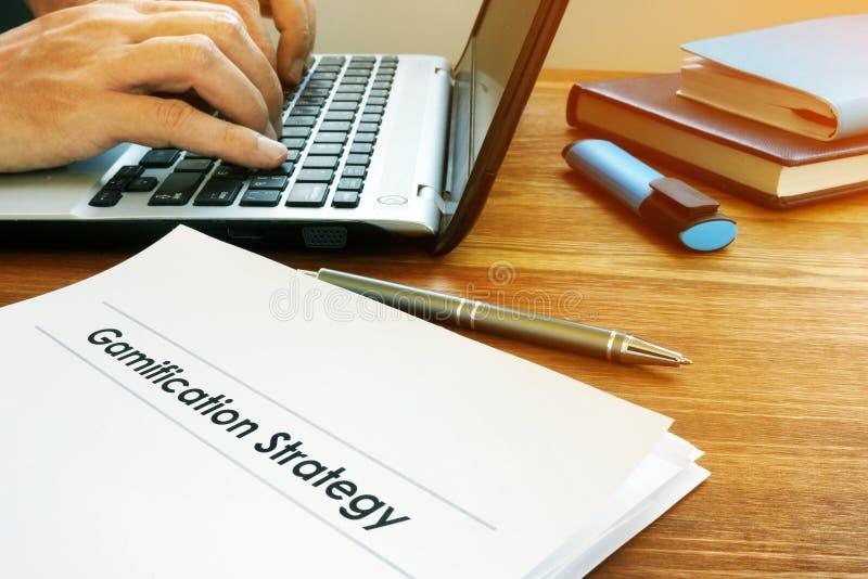 Gamification strategii marketingowy plan zdjęcie stock