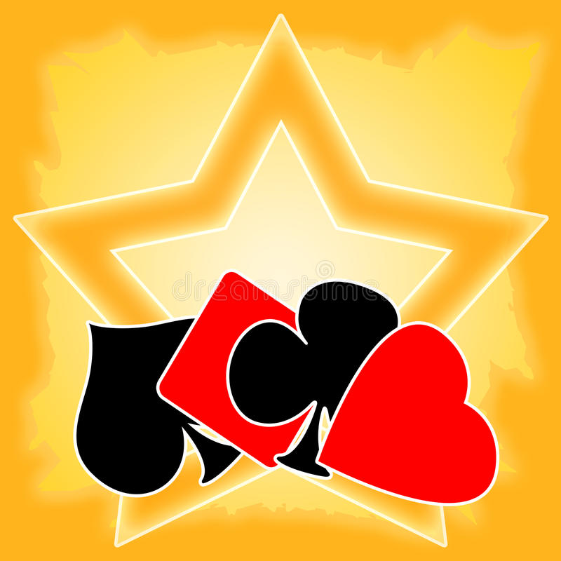 Download Gaming Cards Star Royalty Free Stock Images - Image: 18997259