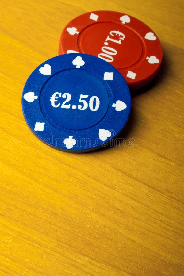 Download Gaming Chips On Wood Royalty Free Stock Photos - Image: 22389978