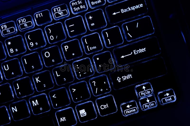 Gaming computer keyboard, for business and leisure. Computer keyboard — a device for entering information into a computer is a stock photos