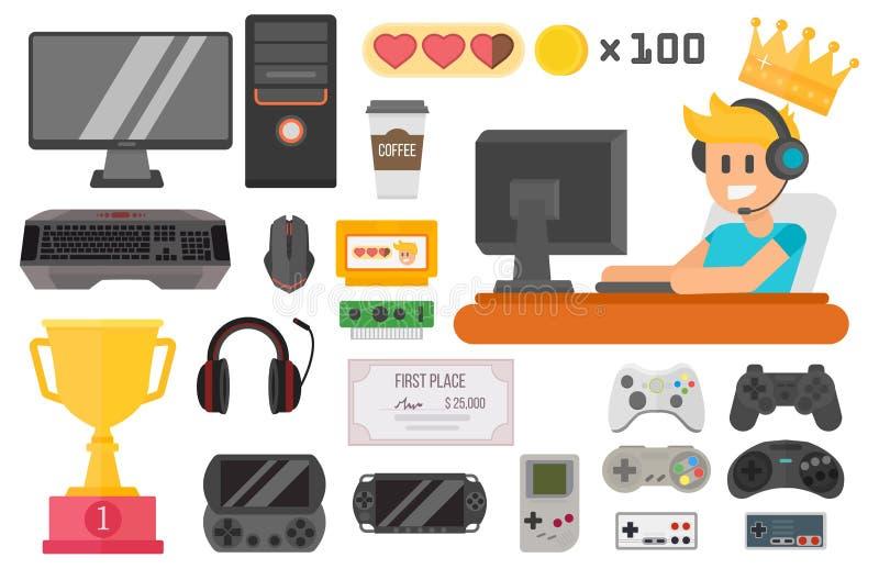 Gaming cyber sport vector set. stock illustration