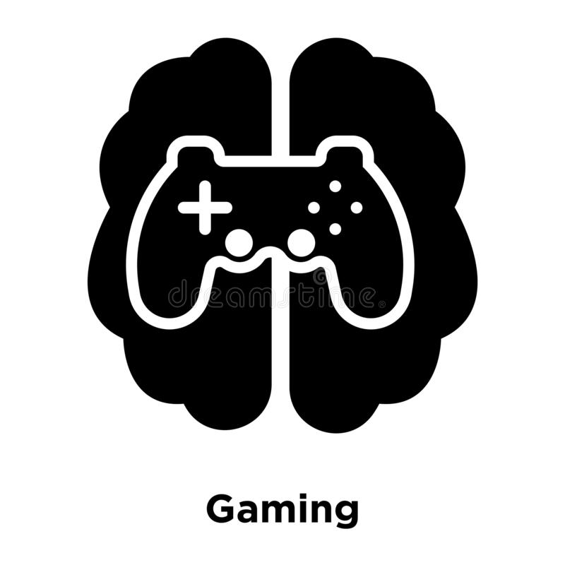 Gaming icon vector isolated on white background, logo concept of vector illustration
