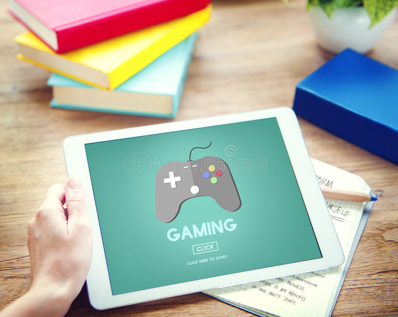 Gaming Playing Problems Joystick Device Concept stock photo