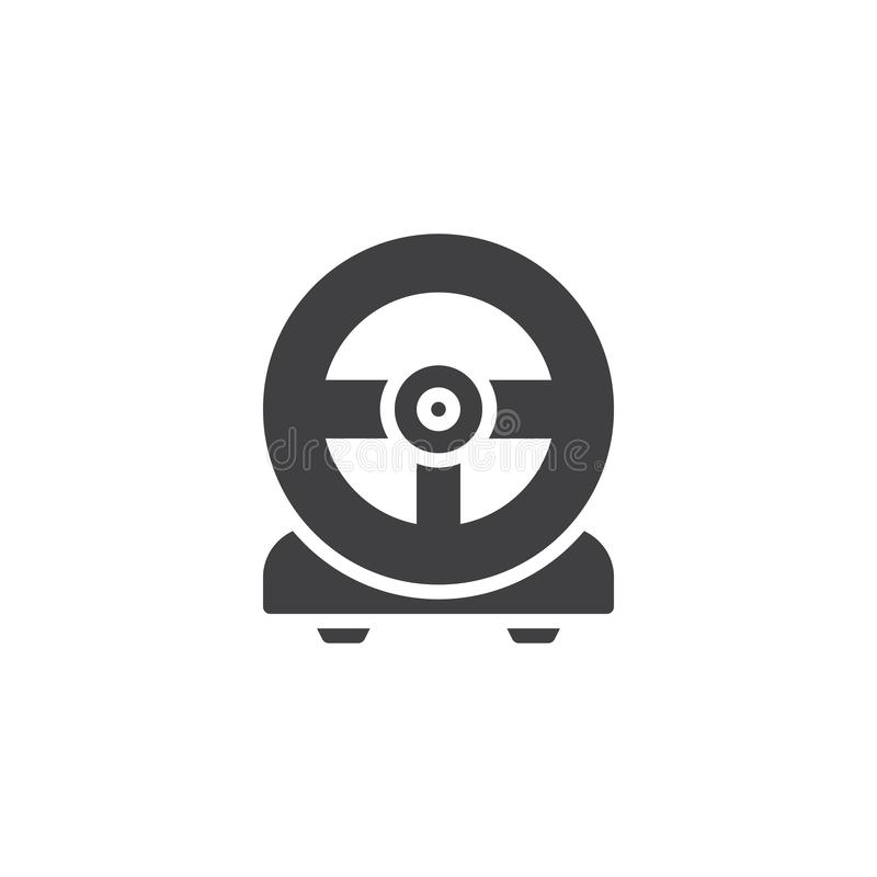 Gaming steering wheel vector icon. Filled flat sign for mobile concept and web design. Racing game steering wheel simple solid icon. Symbol, logo illustration vector illustration