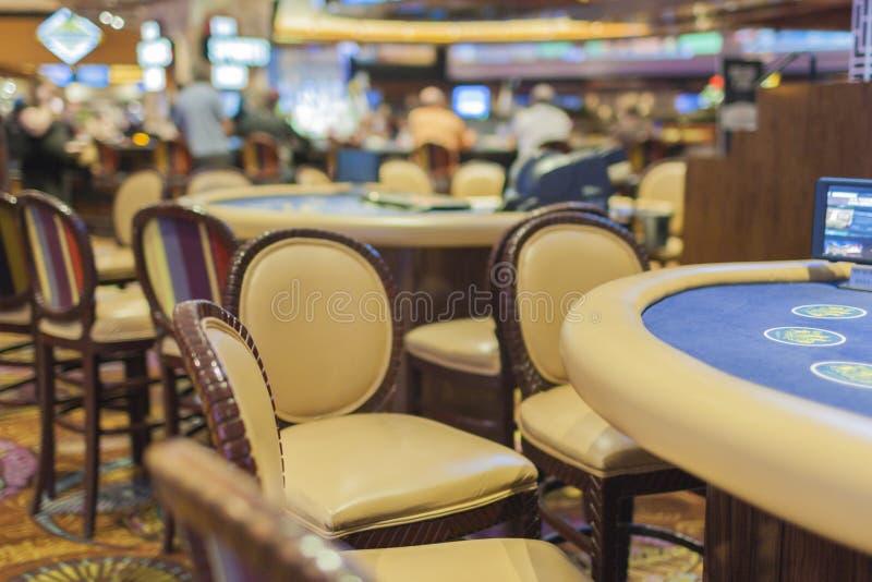 Gaming Table in Las Vegas Casino. Horizontal Image stock images