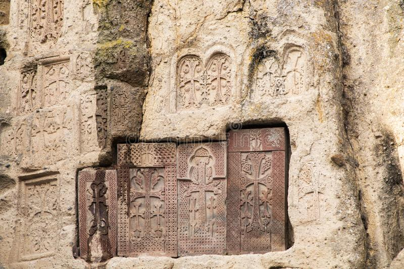 Gamla armeniska gravyrer royaltyfri fotografi