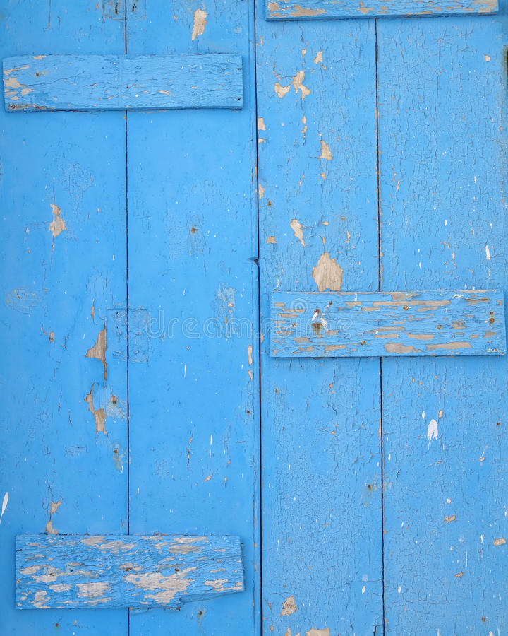 Gamla blått målad wood bakgrund royaltyfri fotografi
