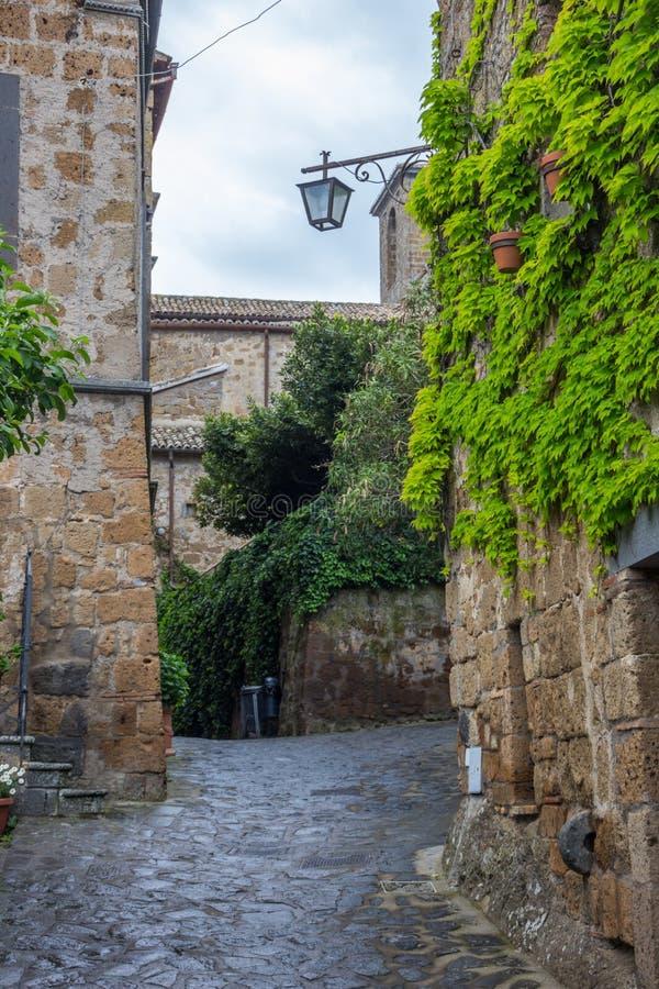 Gamla bygator i Umbria arkivfoto